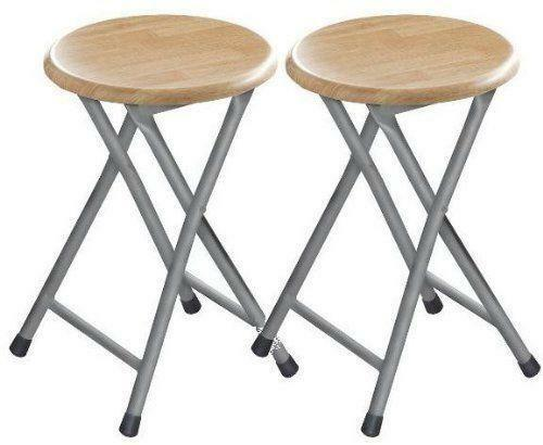 Folding Stool Wood Ebay