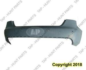 Bumper Rear With Sensor Hole Primed Without S-Line CAPA Audi A4 2009-2012