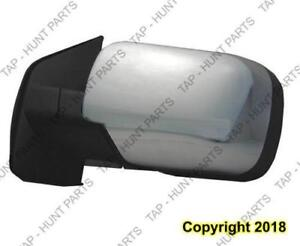 Door Mirror Power Driver Side Chrome Sv Without Tow Nissan Titan 2011-2014