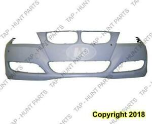 Bumper Front With Sensor Hole Without Head Light Wash Hole Primed Sedan/Wagon CAPA BMW 3-Series 2009-2011
