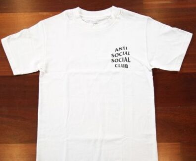 Anti Social Social Club Tee 2 - White,  Medium, 100% Authentic