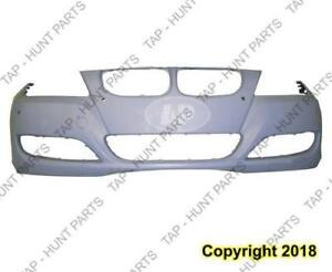 Bumper Front With Sensor Hole Without Headlamp Wash Hole Primed Sedan/Wagon BMW 3-Series 2009-2011