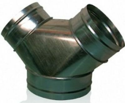 New Wye Branch 8 X 8 X 8 - Y Duct Connector Fitting For Fans And Ventilation