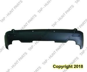 Bumper Rear With Sensor Hole Textured Black Exclude Denali CAPA GMC Acadia 2007-2012