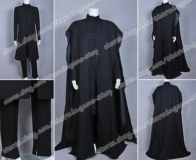 Harry Potter Deathly Hallows costume Severus Snape Cosplay Kostüme Schwarz Robe