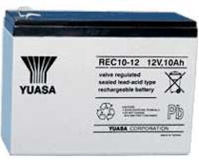 YUASA 12V 10AH Sealed Rechargeable Battery Security Alarm & Burglar Alarm