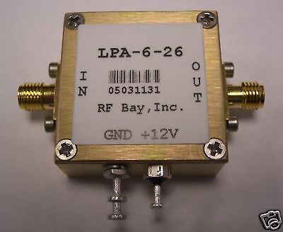100-6000mhz Wideband Rf Amplifier Lpa-6-26 New Sma