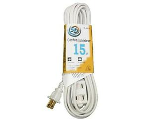 Indoor Cord 5ft , 10ft , 15ft - NEW
