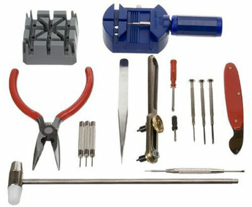 GC 16pc Watch Repair Tool Kit Band Pin Strap Link Remover Back Opener US SHIPPER Jewelry & Watches