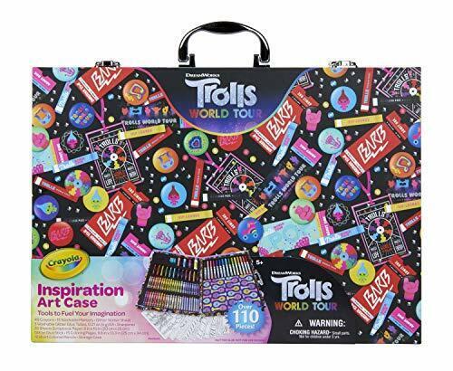 Crayola Trolls World Tour Inspiration Art Case, 110 Pcs, Art Set, Gifts For Gir - $32.16