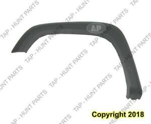 Fender Flare Front Driver Side Dark Gray Textured Withoutff Road Wide GMC Canyon 2004-2012