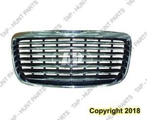 Grille Chrome Frame With Chrome Bars Chrysler 300 2011-2014