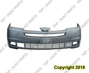 Bumper Front Primed With Radar Hole CAPA Toyota Sienna 2004-2005