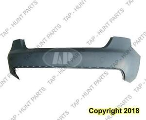 Bumper Rear Without Sensor Hole Primed Without S-Line CAPA Audi A4 2009-2012