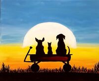 Spirit's Mission PaintNite Fundraisier - Cats & Dogs