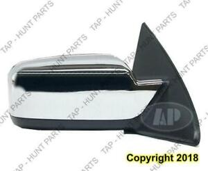 Door Mirror Power Passenger Side Heated Chrome With Puddle Lamp Without Blind Spot Lincoln  MKZ 2007-2009