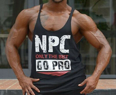 NPC Bodybuilding Mens Only The Best Go Pro Stringer Tank Top Gym Wear