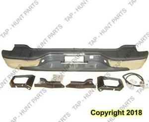 Bumper Assembly Rear (Step Bumper) Chrome Chevrolet Tahoe 2000-2006