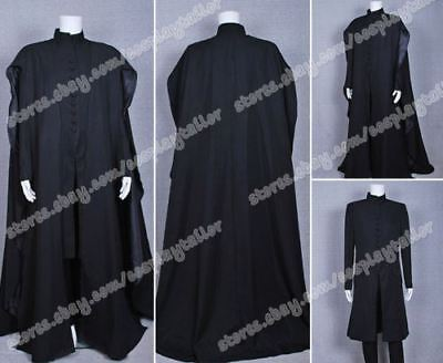 Harry Potter Cosplay Deathly Hallows Severus Snape Costume Halloween Outfit Cool - Cool Harry Potter Halloween Costumes
