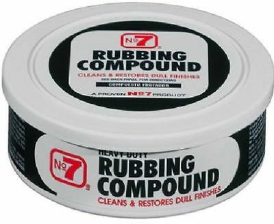 Heavy Duty Rubbing Compound - No. 7 RUBBING COMPOUND 08610 Remove Scratch Stain Dull Heavy Duty Number #7