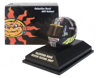 Minichamps 1.8th Scale Valentino Rossi Winter test Helmet MOTOGP 2007. for sale  Shipping to Ireland