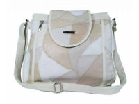 Jazzi London Patch Leather Handbags with Main Zip Pocket Females