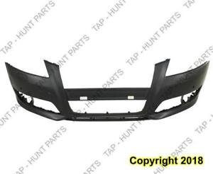 Bumper Front With Sensor/Wash Hole Without Sport Package Primed Audi A3 2009-2013