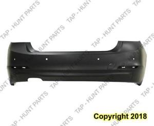 Bumper Rear Primed With Sensor Without Moulding Sedan (Gas) (F30 328I) CAPA BMW 3-Series 2012-2015