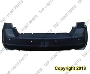 Bumper Rear Primed Black One Piece With Sensor Hole With Dual Exhaust (Rt Model) Capa Dodge Journey 2011-2016