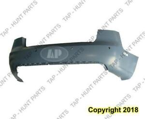 Bumper Rear With Sensor/S/Lp Hole Primed Usa Type CAPA Audi A4 2005-2008