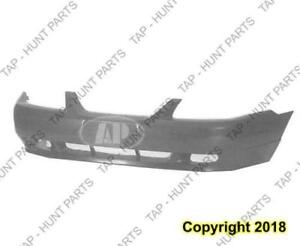 Bumper Front Primed With Fog Lamp Hole Ford Mustang 1994-2004