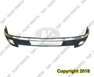 Bumper Front With Fog Lamp Hole Chrome Steel 2500/3500 Chevrolet Silverado 2011-2014