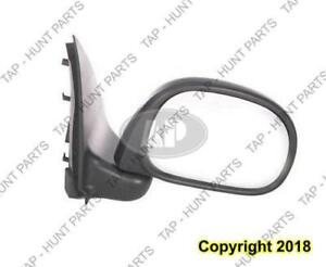 Door Mirror Passenger Side Rectangular Style Manual Black Textured [From 1997 To 2/11/2002] Ford F150