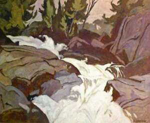"""Oxtongue River"" Lithograph by A.J. Casson appraised at $500"