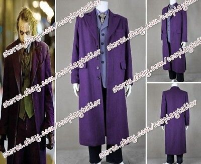 Batman The Dark Knight Cosplay Kostüme Karneval Der Joker costume Purpur Uniform