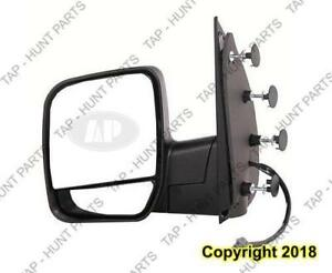 Door Mirror Power Driver Side With Puddle Lamp With Dual Glass Ford Econoline 2002-2007