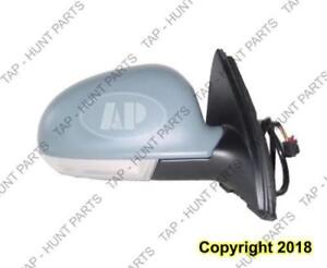 Door Mirror Power Passenger Side Heated With Signal Volkswagen Jetta 2005-2010