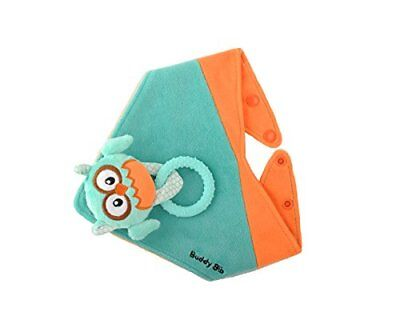 Malarkey Kids Buddy Sensory Teething Toy 3 in 1 Bandana Drool Bib Ollie Owl