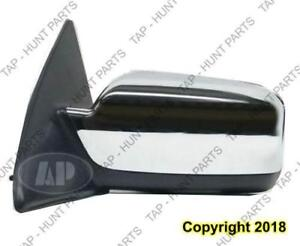 Door Mirror Power Driver Side Heated Chrome With Puddle Lamp Without Blind Spot Lincoln  MKZ 2007-2010