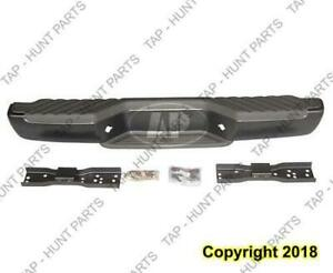 Bumper Rear Steel Black Nissan FRONTIER 2001-2004