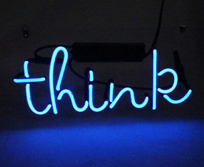 New Think Lamp Beer Bar Artwork Acrylic Neon Light Sign 14""