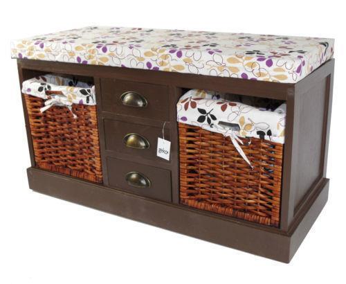 hall storage benches hallway furniture ebay. Black Bedroom Furniture Sets. Home Design Ideas