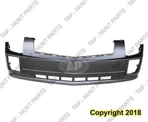 Bumper Front Without Head Lamp Washer Hole Sports Upper/Lower 1 Piece Primed Cadillac SRX 2004-2009
