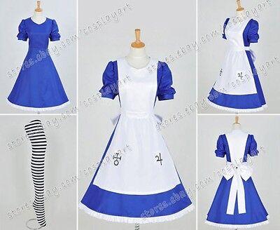 Alice: Madness Returns Cosplay Kostüme Alice costume Blau Kleid Halloween Party (Alice Madness Returns Kostüme)