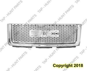 Grille Chrome/Black Denali  GMC Sierra 2007-2012
