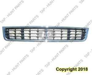 Grille Lower Center Front (Chrome/Patd-Black) Audi A4 2002-2005