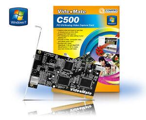 Compro C500 Digital PCI Firewire Analog Video/Audio Capture Card withStudio 11SE