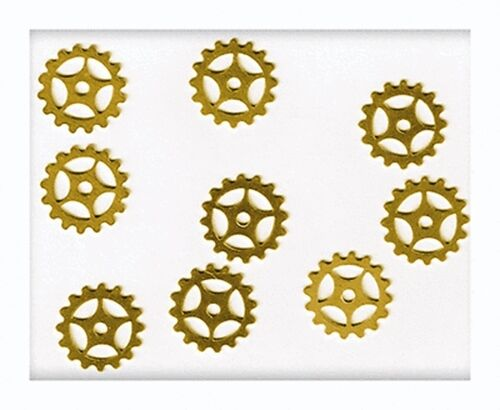 """36 Solid BRASS Watch GEARS~ 16mm 5/8"""" ~ SteamPunk Altered Art ~ Made in USA"""