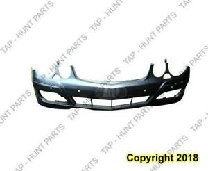 Bumper Front Primed With Sensor With Head Light Washer Hole Without Sport Package Mercedes E-Class 2007-2009