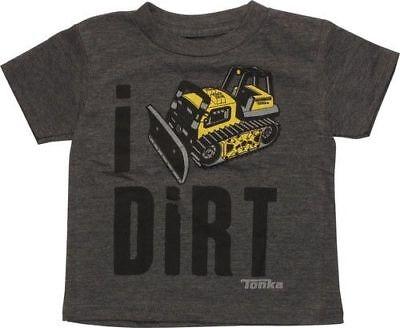 Toddler & Infant Tonka I Dig Dirt iDirt Tractor Shirt New 18M,24M,2T, 3T, 4T, 5T (I Dig)